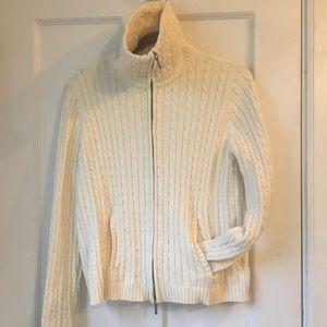 Ralph Lauren Cable Knit Zip Cardigan